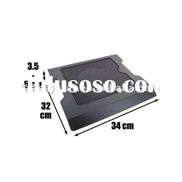 Aluminum USB notebook cooling pad with LED light/Laptop cooler pad