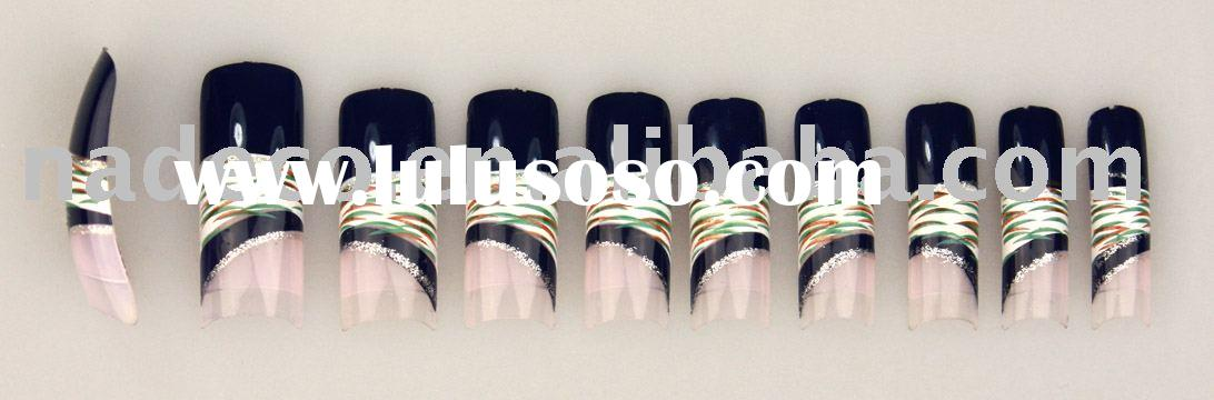 Artificial Nail, salon nail tips, airbrush nail, 3D art nails, French nails, false nail, art nail, n