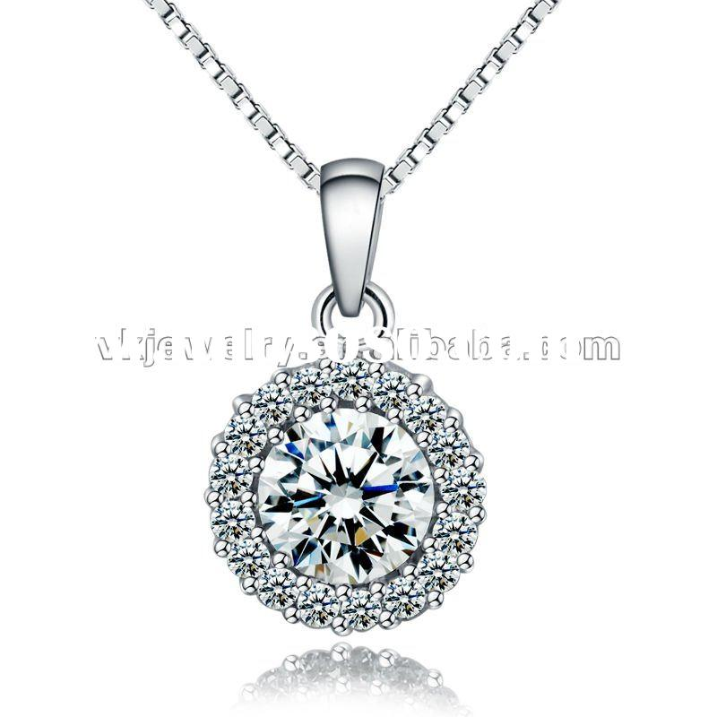 Available Stock!Fashion 925 Silver Pendant Necklace XS-P0007