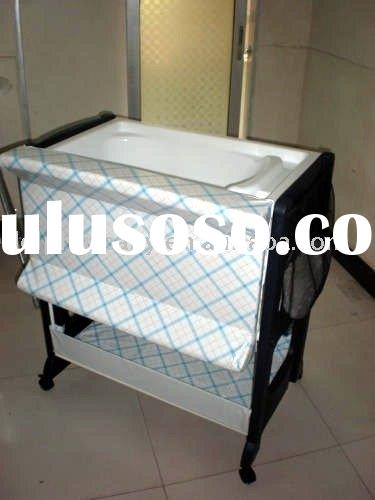 Baby Change Table with Bath and Storage,plastic changing table