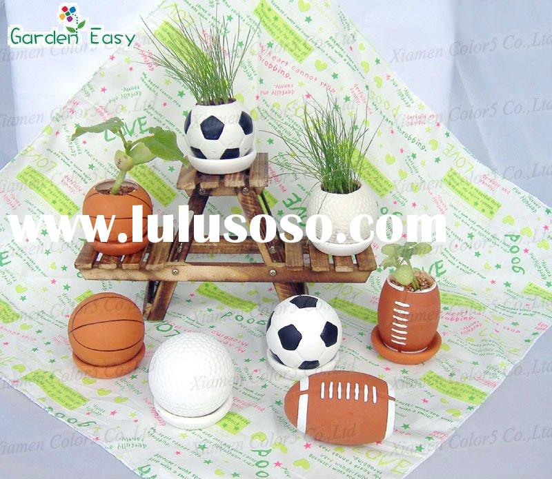 Ball Garden Planter,Unique Flower Planters,Terracotta Flower Planter,White Pot,Round Pot