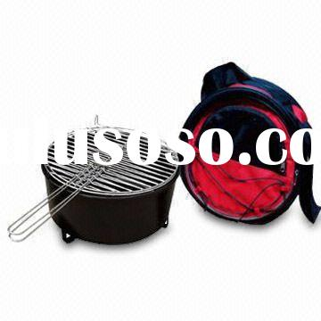Barbecue Grill with Cooler Bag and Shoulder Strap for Easy Carry