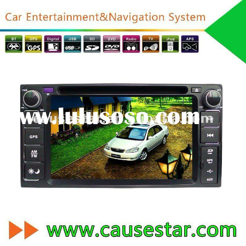 Car DVD GPS for Toyota Prado Accessories, double din HD TFT touch scren