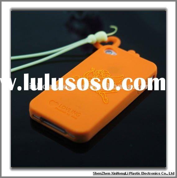Cell phone Silicone case for iPhone 4 / 4S, 2 in 1
