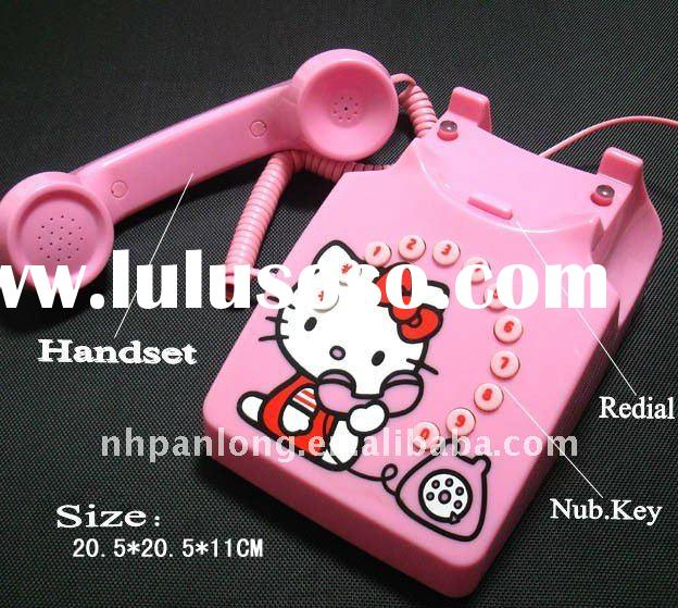 Cute!Fashion hello kitty antique telephone,new cheap home use decoration telephone model