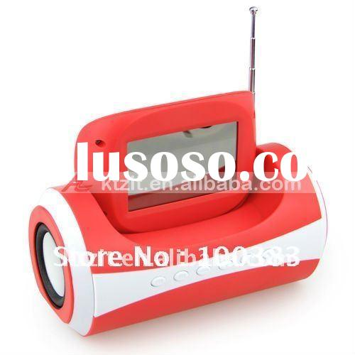 Cute Hotselling Portable MP3 Mini Speaker With LCD Display And FM Radio, Alarm Clock