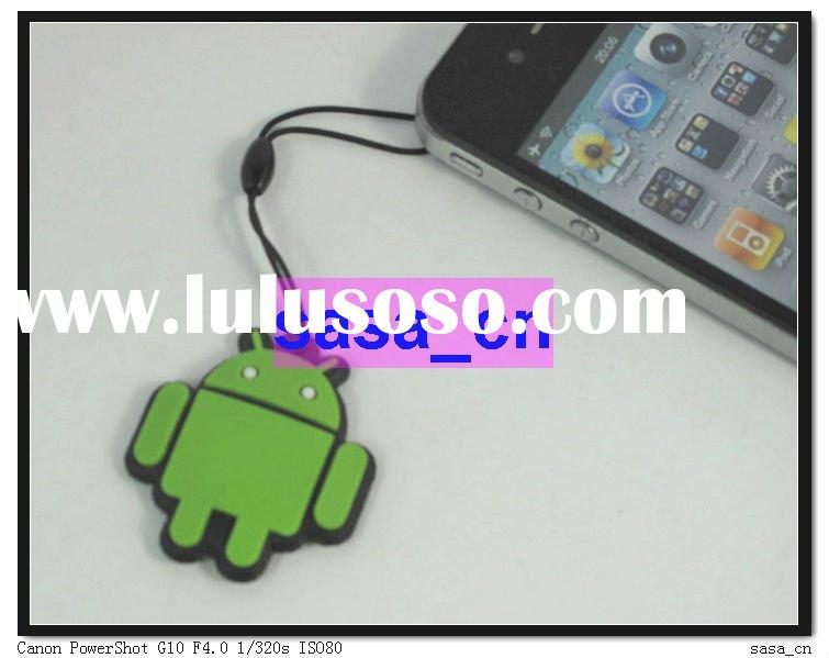 Cute Mini Google Android Robot Phone Straps Charms With LCD Screen Cleaner Pad For Camera MP3 MP4