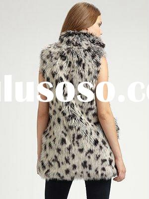Fashion lady Faux Fur Vest&jacket
