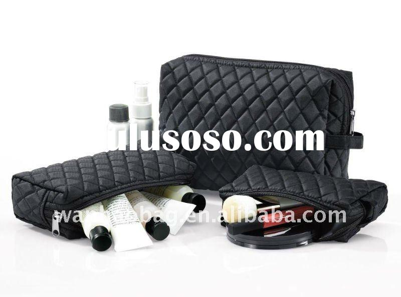 Fashion nylon Cosmetic bags and case Hand pull cosmetic bag