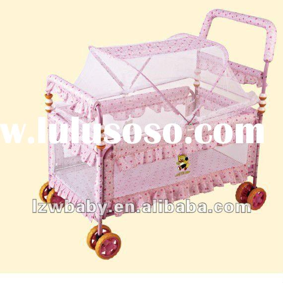 Fashionable pink baby bed in 2012,hot sales in Australia!