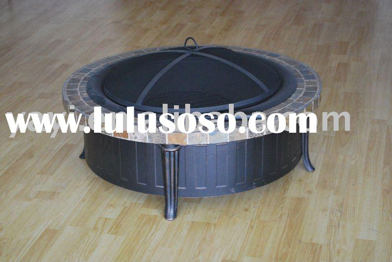 Garden treasures outdoor round slate brazier