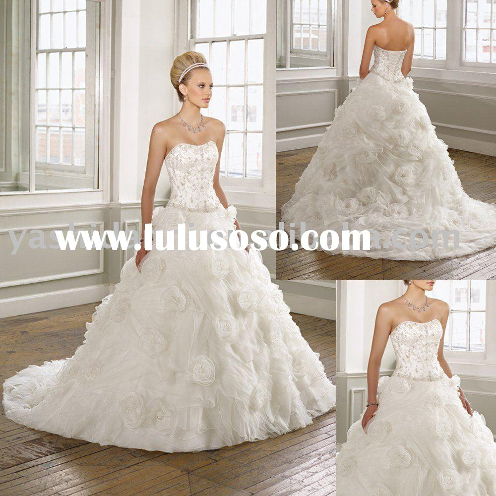 HOT Sale Appliqued wedding dress 2011 in lebanon