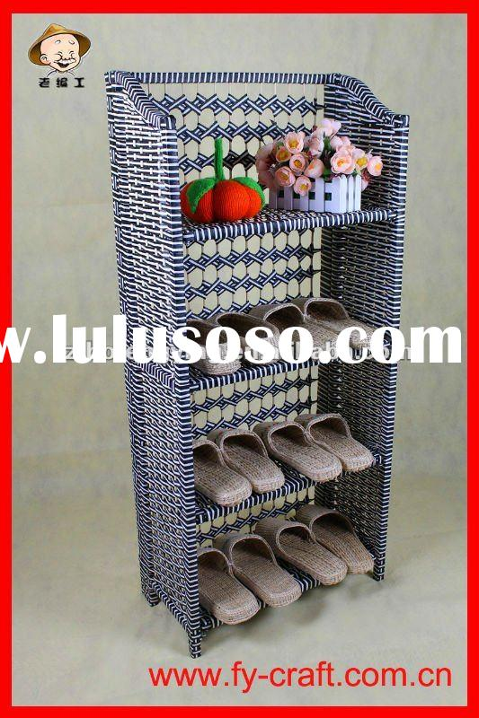 Hand-woven corner shoe rack,kids shoe rack,children shoe rack