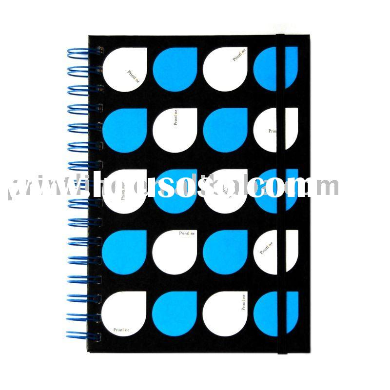 Hard Cover Spiral Notebook With Elastic Band