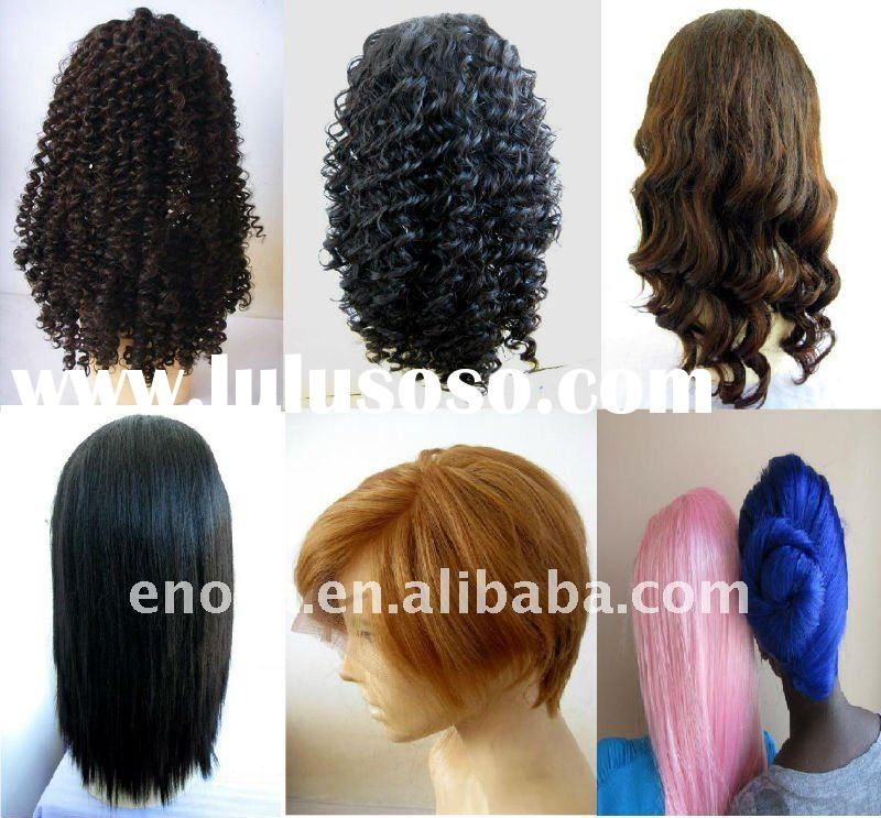 Heat resistant artificial hair synthetic lace front wigs