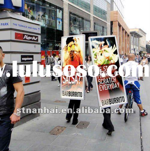 Ja1-133 New media human walking electronic message billboard with lithium battery
