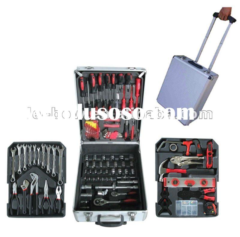 KRAFT TECH 187pcs hand tool set with trolley case.