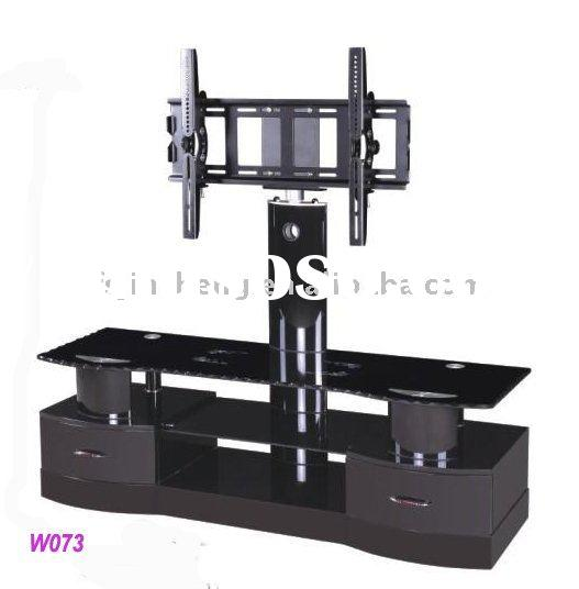 Living room led tv stand,glass furniture