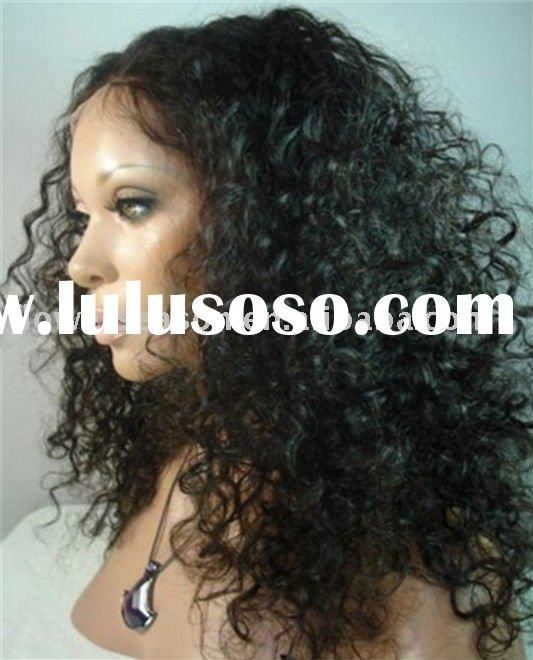 Most welcomed 100% human hair curly full lace wig