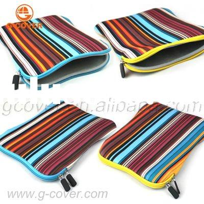 Multicolor Stripe Neoprene Laptop Sleeve,Laptop Bag
