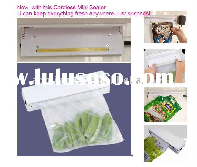 New Patented Battery Operated Cordless Mini Sealer Bag Resealer-QVC