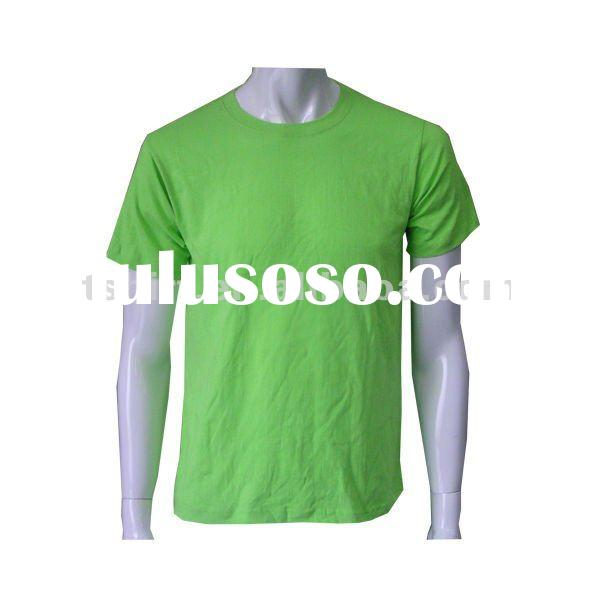 New style of high-quality 100% cotton plain t-shirt 2012