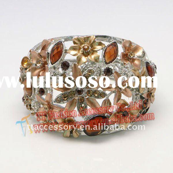 Newest indian crystal bangle jewelry wholesale