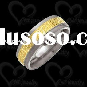 Nice 316l stainless steel ring with carbon fiber