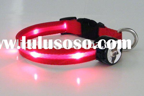 Nylon water-proof High-lighted Dog Collars with Plastic Buckle
