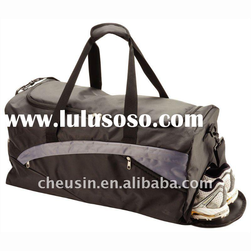Outdoor sports gym bag with shoe compartment