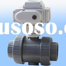 PVC double union ball valve with actuator