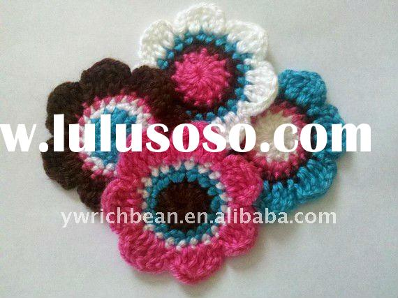 Pretty hot-sales crochet hair flower with clip RF-128