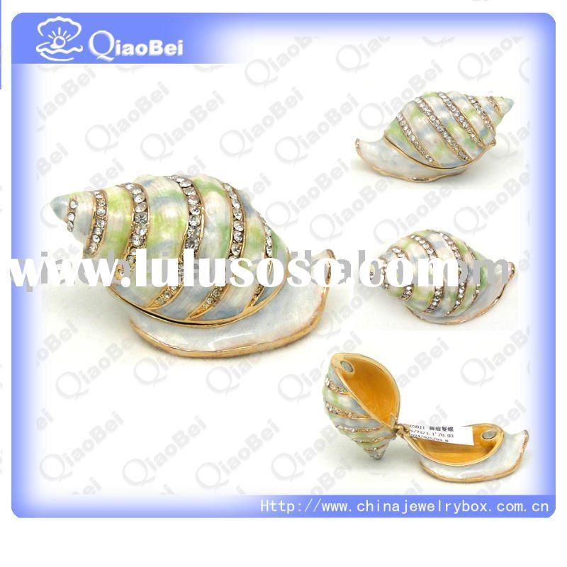 Sea Shell Hand Painted Jewelry Boxes decorative