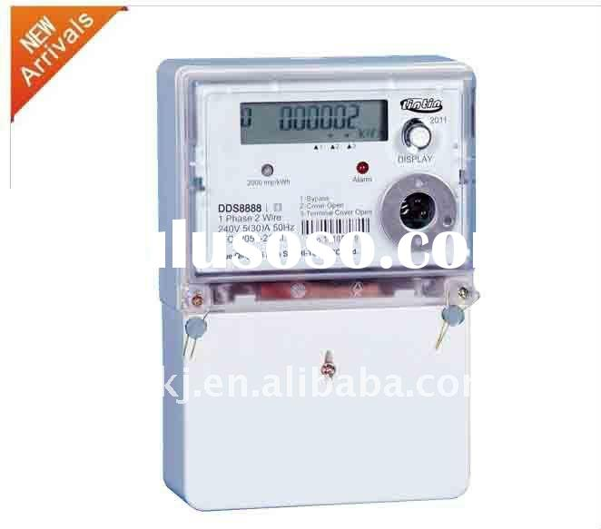 Single phase LCD electronic anti-tampering energy meter with RS485 &RS232 conmunication