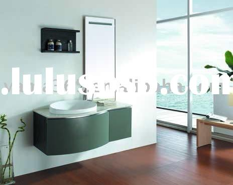 Special marble bathroom cabinet of solid wood V-12033