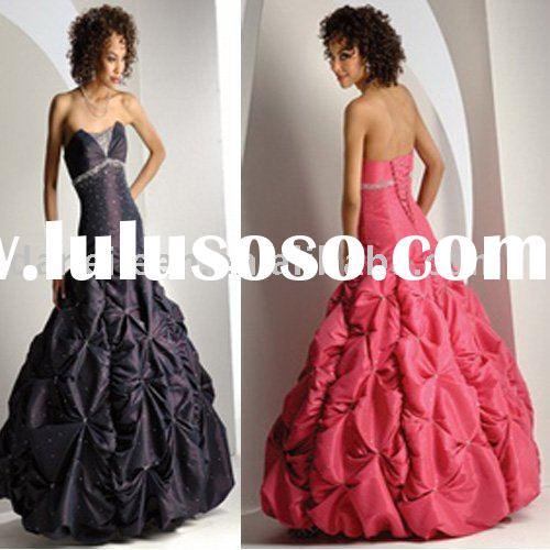 Sweetheart Corset Organza High Quality Cheap Prom/Evening Dresses Style DE-EL0224