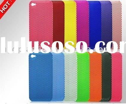 The latest colorful mesh plastic case for Iphone 4