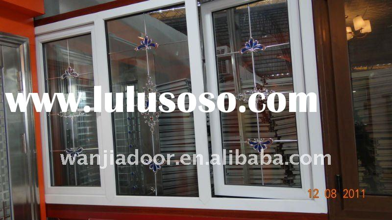 Top sales upvc wrought iron window grill design