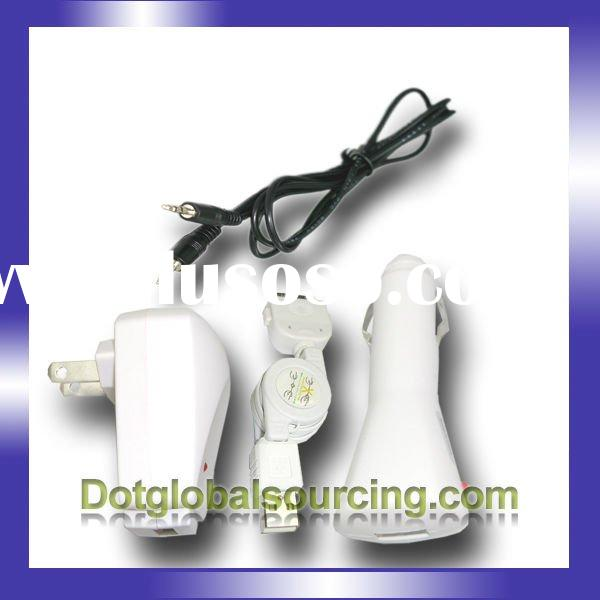 USB CABLE+CAR+WALL Charger For iPod Nano Touch iPhone 4G