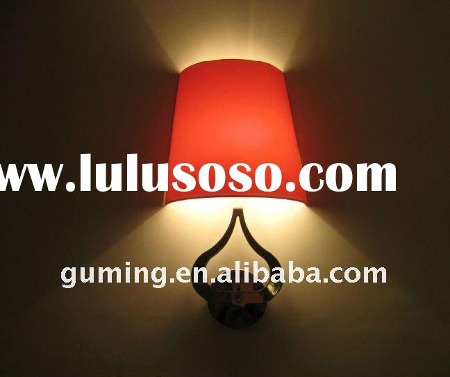 Wall Lamp/ Red Shade With Metal Hotel Wall Lamps
