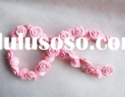 Wholesale rose shape coral beads Gemstone chips strand
