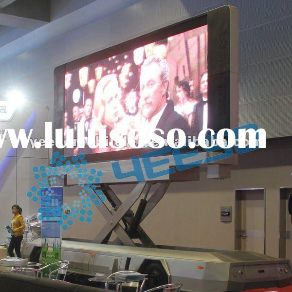 YES-T12 Mobile LED Advertising Vehicle, LED display screen, for road show,live broadcasting