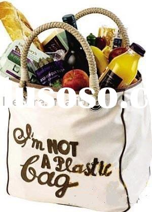 """I AM NOT PLASTIC BAG"" fashion shopping bag"