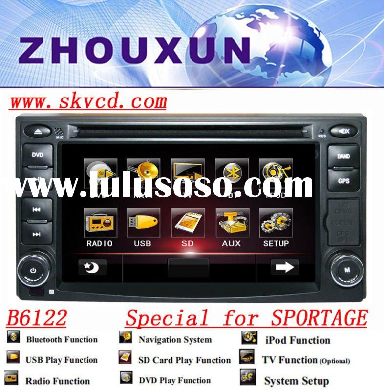 "(KIA SPORTAGE) 6.2"" HD digital car DVD GPS player, with TV,radio, bluetooth"