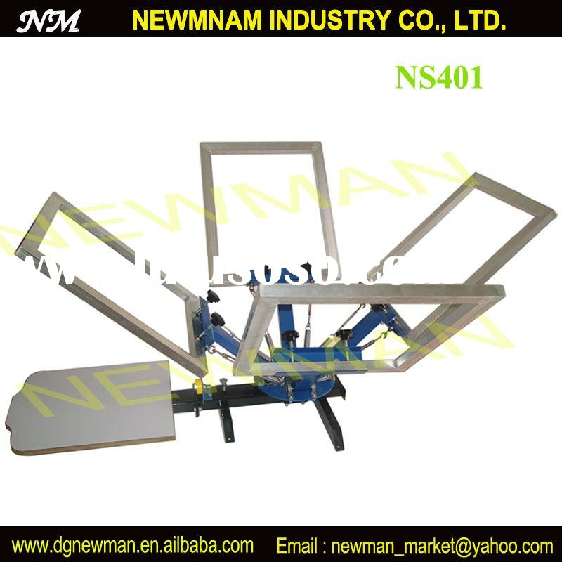 best quality manual 4 color 1 station rotary silk screen printing equipment