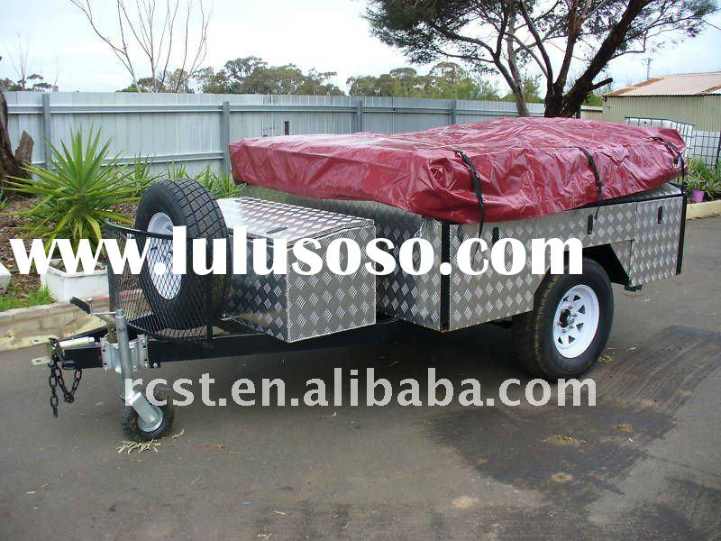 best selling 7x4ft off road camper trailer and canvas camping tent trailer