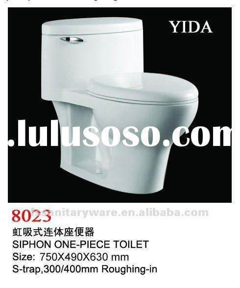 ceramic siphonic one piece toilet bowl for sanitary ware in toto design
