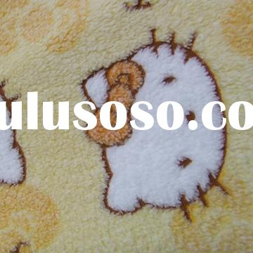 fleece fabric.this fabric is very soft ,used for home textiles ,blankets ,toys and so on . weight :4