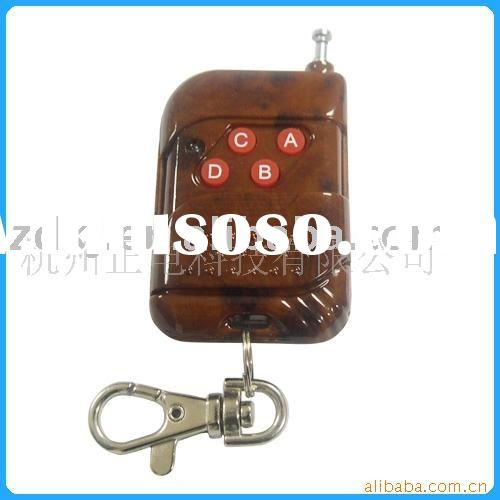 home appliance (four button) rf universal remote control [transmitter] (for red peach wood)