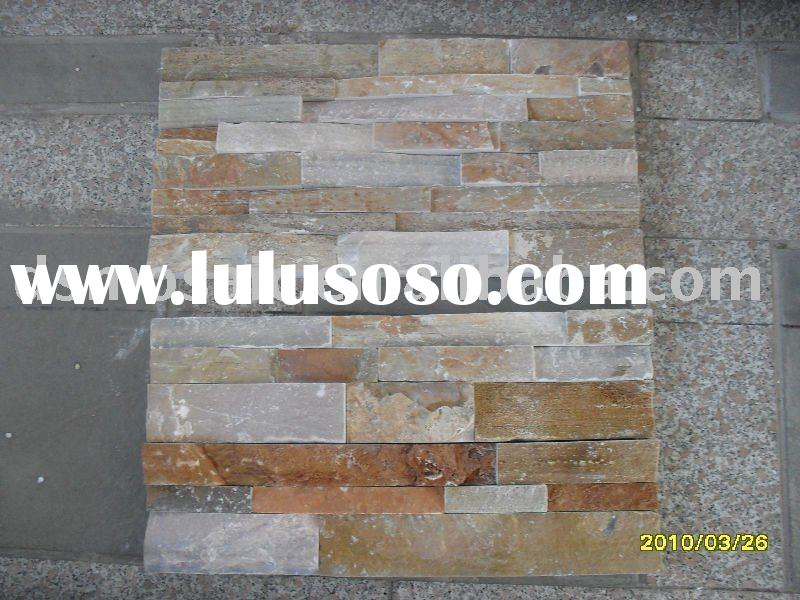 natural stone Slate culture stone China Slate Culture stone-thickness with glue